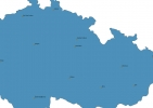 Map of Czech Republic With Cities thumbnail