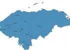 Map of Honduras With Cities thumbnail