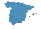 Map of Spain With Cities thumbnail