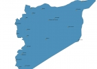 Map of Syria With Cities thumbnail
