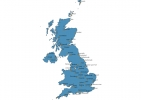 Map of United Kingdom With Cities thumbnail