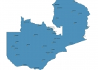 Map of Zambia With Cities thumbnail