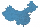 Road map of China thumbnail