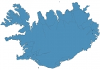 Road map of Iceland thumbnail