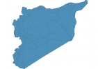 Road map of Syria thumbnail