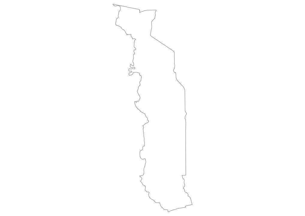 Togo Outline Map