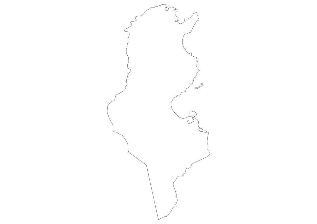 Tunisia Outline Map