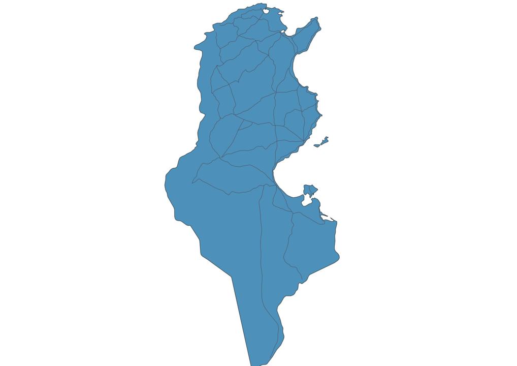 Map of Roads in Tunisia