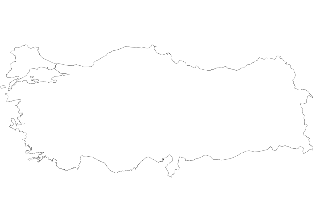 Turkey Outline Map