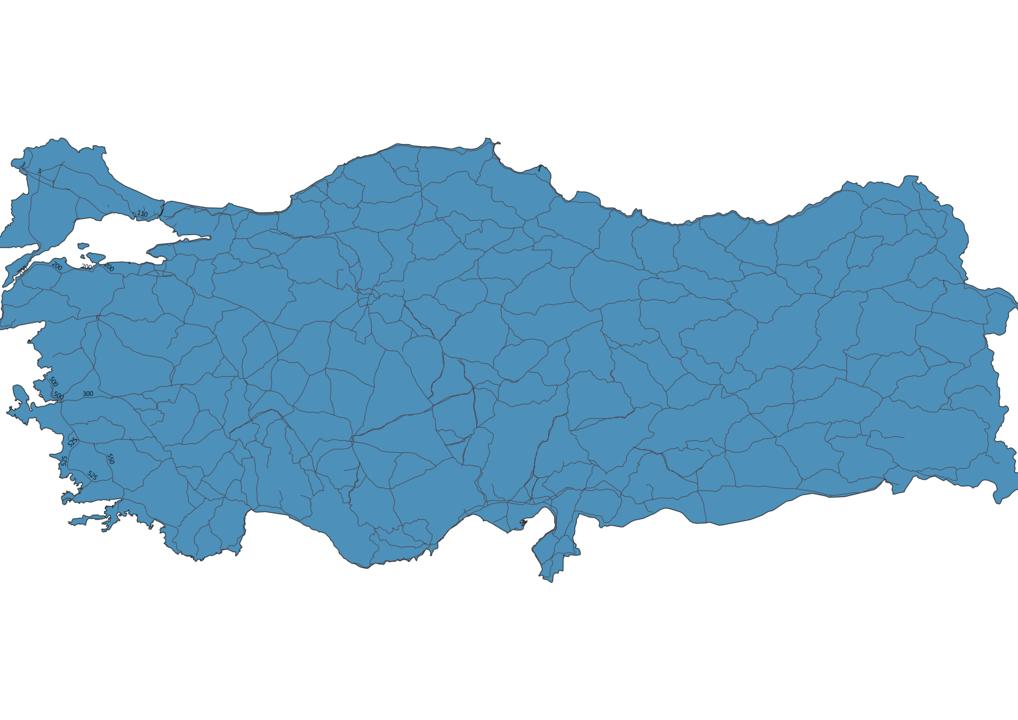 Map of Roads in Turkey