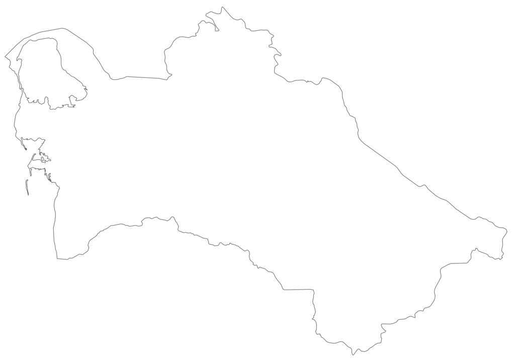 Turkmenistan Outline Map