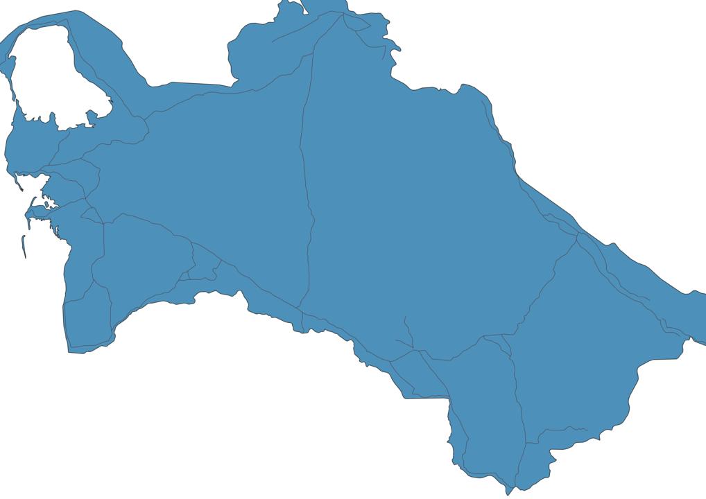 Map of Roads in Turkmenistan