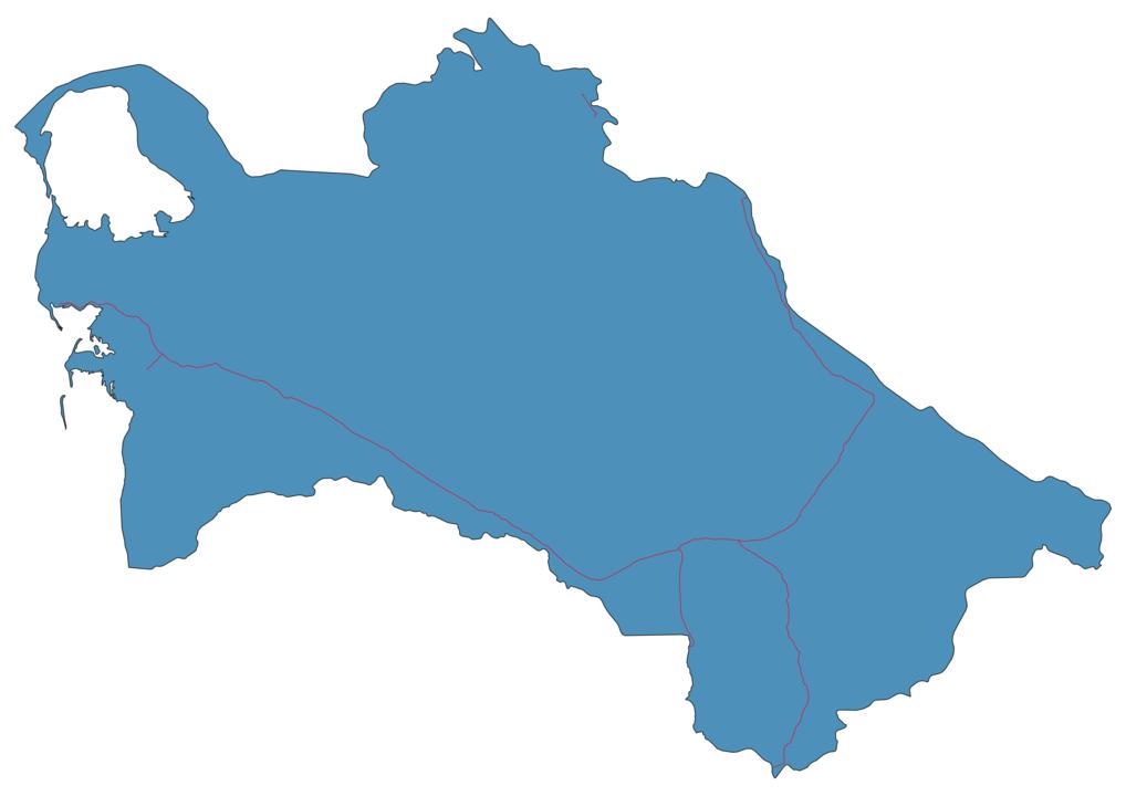 Turkmenistan Railway Map