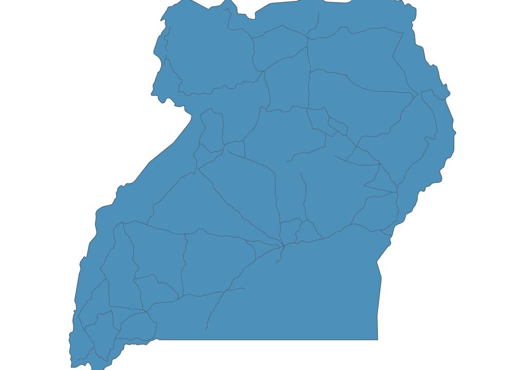 Map of Roads in Uganda