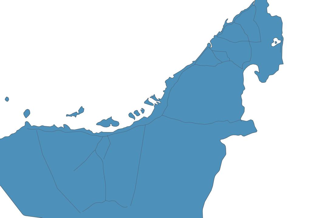Map of Roads in United Arab Emirates