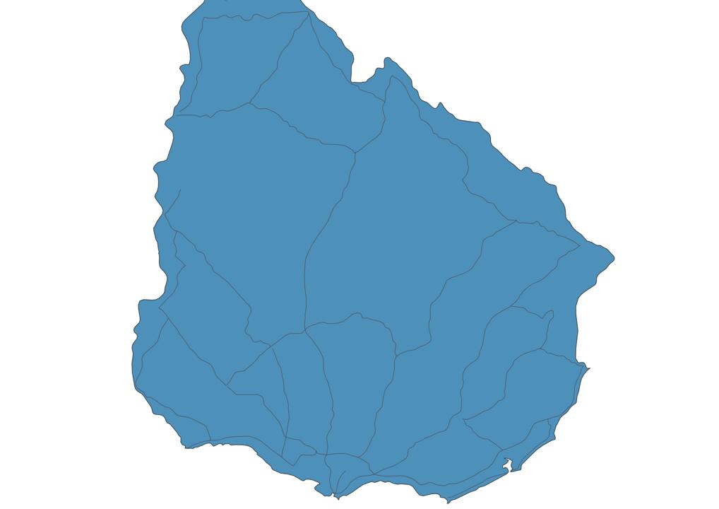 Map of Roads in Uruguay