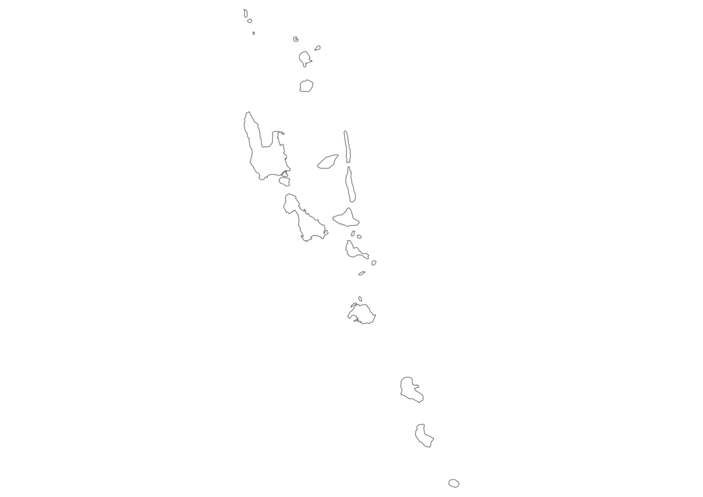 Vanuatu Outline Map