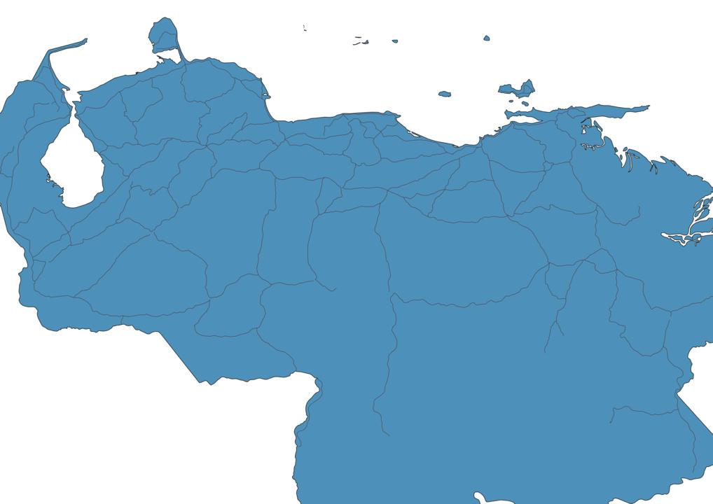 Map of Roads in Venezuela
