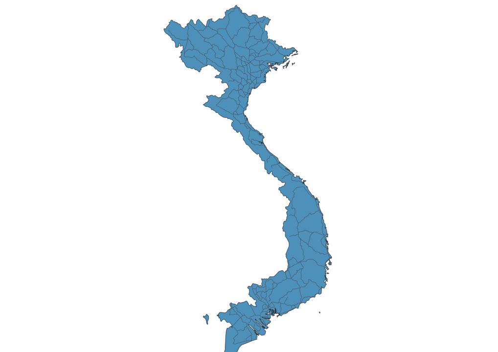 Map of Roads in Vietnam