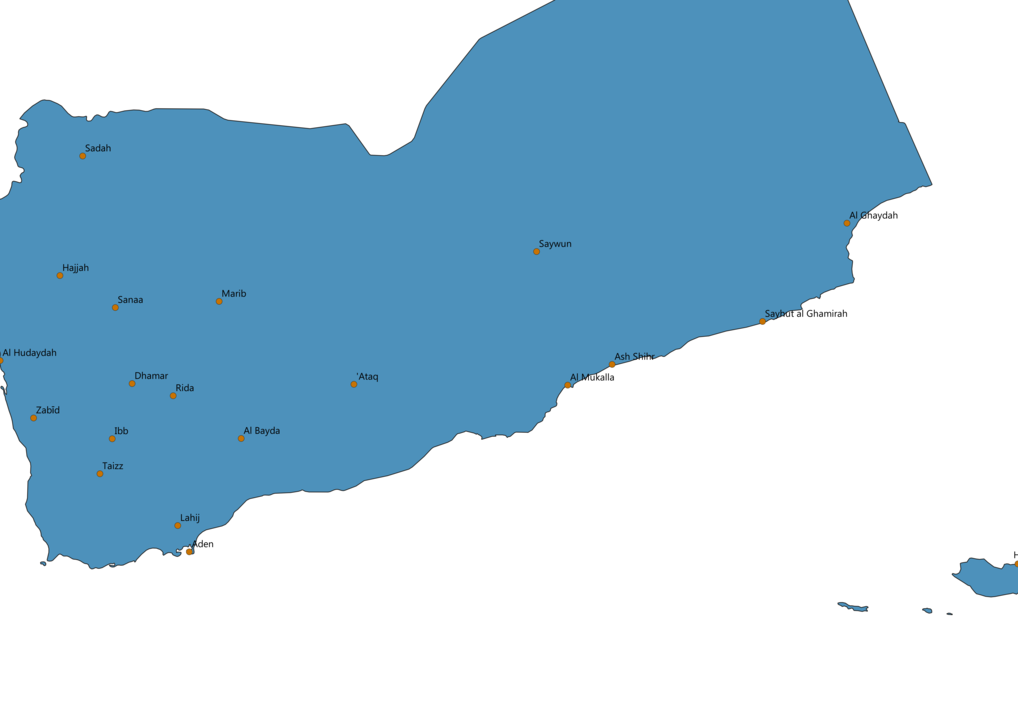 Yemen Cities Map
