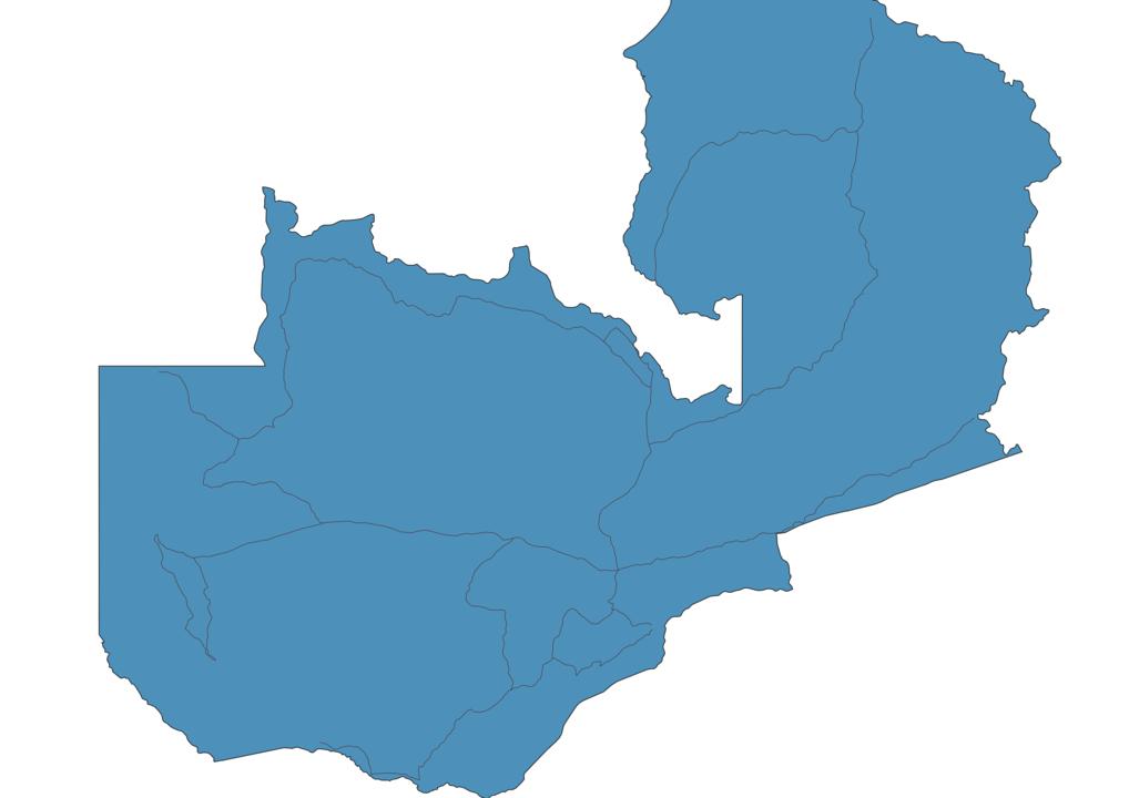 Map of Roads in Zambia