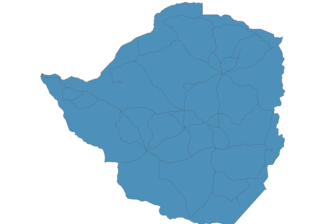 Map of Roads in Zimbabwe